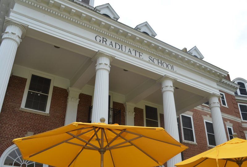The Graduate Life Center portico from the patio