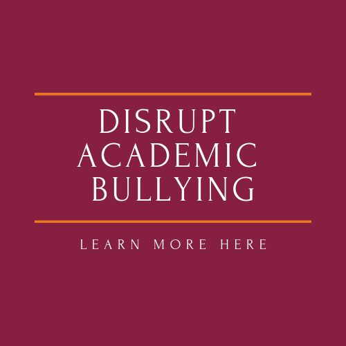 red stop sign with legend disrupt academic bullying