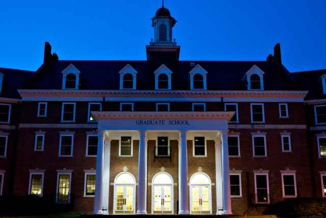 The Graduate Life Center just before dawn