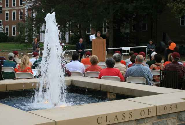 Graduate School fountain and plaza at dedication