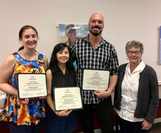 The Graduate School honored students as Citizen Scholars