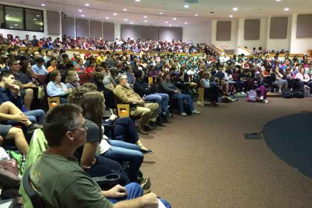 Hundreds of students attend the Graduate Teaching Assistant workshop each fall