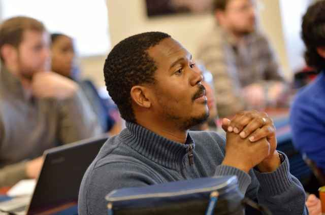 A graduate student at the Roanoke Higher Education Center