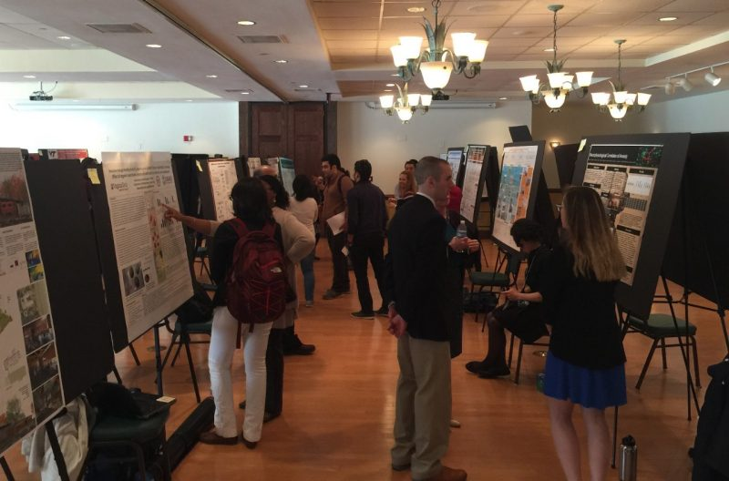 Students present posters of their work during the annual Graduate Student Assembly research symposium at Virginia Tech